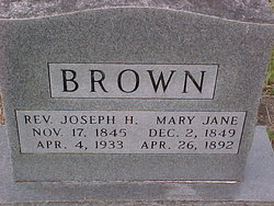 Rev Joseph H. Brown