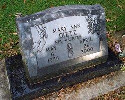 Mary Ann <i>Wachter</i> Dietz