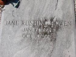 Jane <i>Rushing</i> Bowen