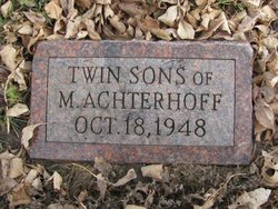 Infant Twin Son Achterhoff