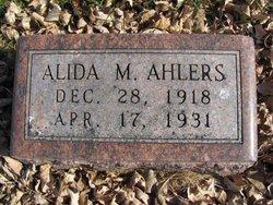 Alida M Ahlers