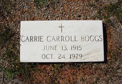 Carrie <i>Carroll</i> Boggs