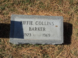 Ziffie <i>Collins</i> Barker