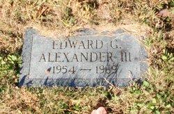 Edward G Alexander, III