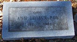 Annie Amelia <i>Lomax</i> Pou