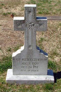Mary <i>Miller</i> Crenshaw