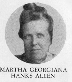 Martha Georgina <i>Hanks</i> Allen