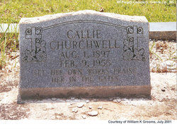 Callie <i>Walley</i> Churchwell