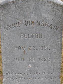 Annie <i>Obenshain</i> Bolton
