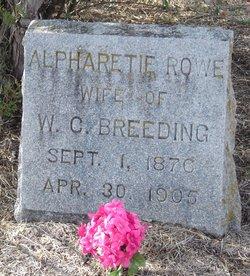Alpharetta Rettie <i>Rowe</i> Breeding