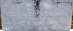 Maurine <i>Thomson</i> Hinton