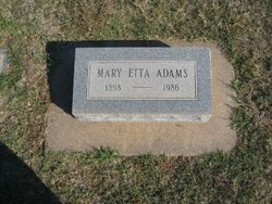 Mary Etta <i>Stewart</i> Adams