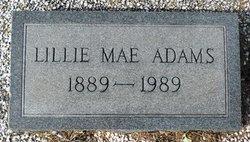 Lillie Mae <i>Lansford</i> Adams