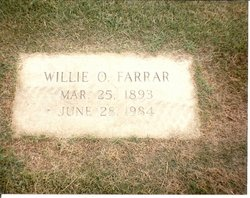 Willie Oliver <i>Schwend</i> Farrar