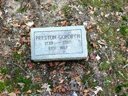 Pvt Preston Goforth