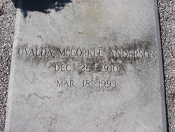 Uvalda <i>McCorkle</i> Anderson