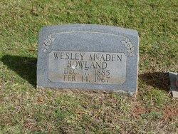 Wesley McAden Bowland