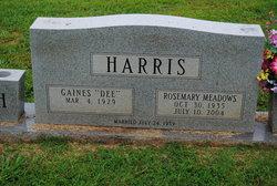 Rosemary <i>Meadows</i> Harris