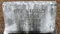 Effie <i>McGauley</i> Anderson