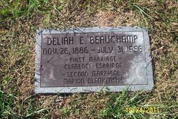 Deliah E <i>Beauchamp</i> Blankenship