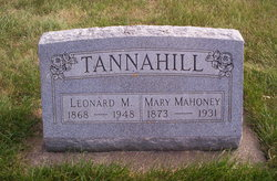 Mary <i>Mahoney</i> Tannahill