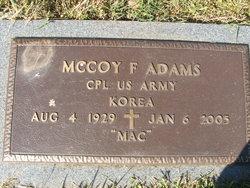 Mccoy F Adams