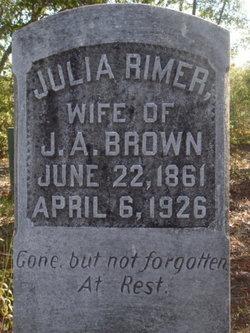 Julia Lavenia <i>Rimer</i> Brown