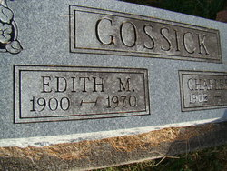 Edith M <i>Wilson</i> Gossick