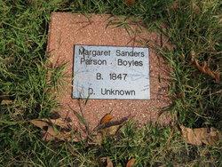 Margaret Elizabeth <i>Sanders-Parson</i> Boyles