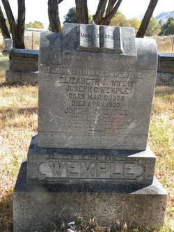 Elizabeth Jane <i>Christie</i> Wemple