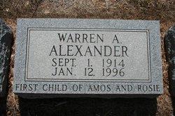 Warren Amos Alexander