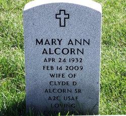 Mary Ann <i>Walker</i> Alcorn