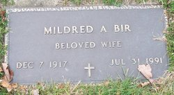 Mildred A <i>Sheets</i> Bir