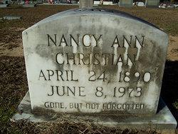 Nancy Ann Annie <i>Boutwell</i> Christian
