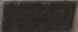 Reinhardt William Bahlmann