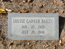Louise Katherine <i>Garner</i> Bailey
