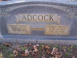 Minnie Barnes Adcock