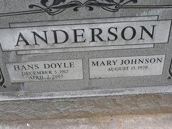 Mary <i>Johnson</i> Anderson