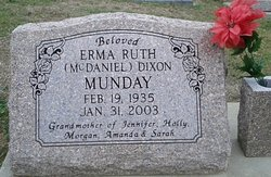 Erma Ruth <i>McDaniel</i> Munday