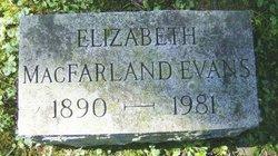 Elizabeth <i>MacFarland</i> Evans