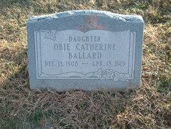 Obie Catherine Katie <i>Dugan</i> Ballard