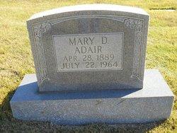 Mary D <i>Galloway</i> Adair