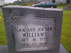 Ara Ann <i>Jordan</i> Williams