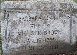 Barbara Anne <i>Knipp</i> Brown