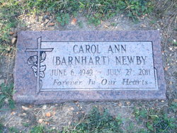 Carol Ann <i>Barnhart</i> Newby