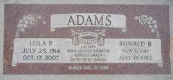 Ronald B Adams
