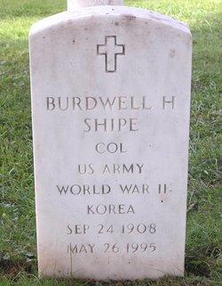 Col Burdwell Hoyt Shipe