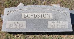 Myrtie Florence <i>Lowrance</i> Boydston