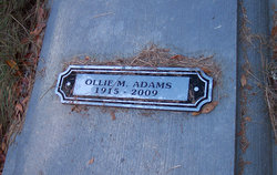 Ollie M. <i>Johnson</i> Adams
