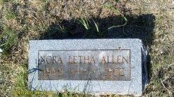 Nora Letha <i>Easterwood</i> Allen
